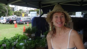 Lyza Saint Ambrosena buying fresh organic vegies