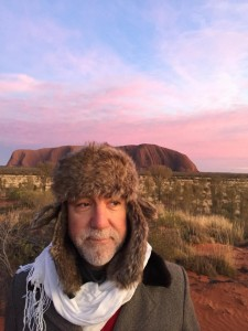 Cameron Monley at Uluru Ayers Rock with Lyza Saint Ambrosena