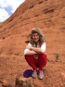 Lyza Saint Ambrosena at Uluru Ayers Rock