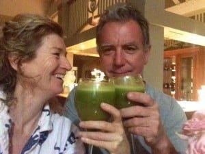 Green Juice Junkies Cameron Monley and Lyza Saint Ambrosena