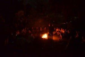 Lyza Fire Full Moon Night