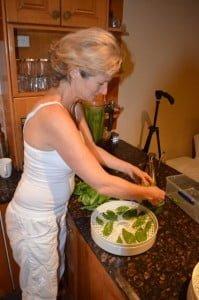 Lyza Saint Ambrosena Healer making Healthy Pesto