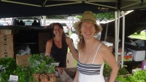 Lyza Saint Ambrosena Healer Buying Fresh Greens at Organic Markets